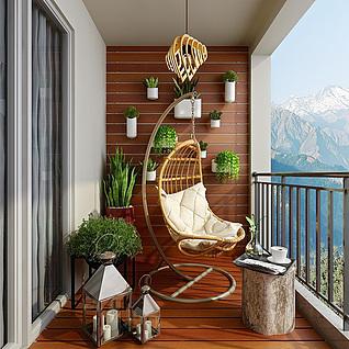 阳台整体模型