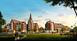 英式住宅商业街3d模型
