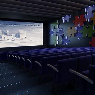 电影院放映厅整体模型