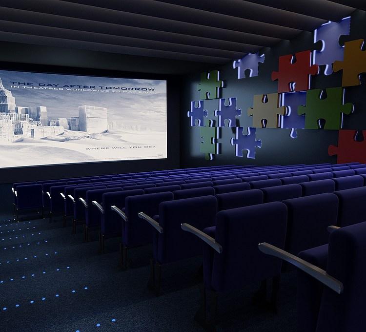 电影院放映厅