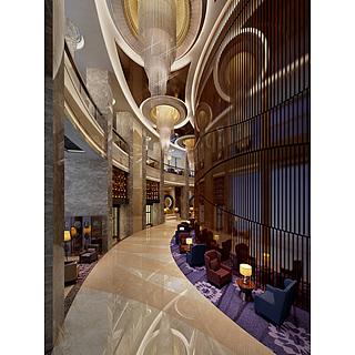 大堂大厅整体模型