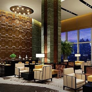 酒店大堂整体模型