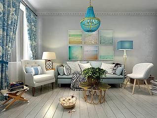 客厅家装模型