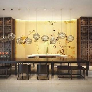 中式会议室整体模型