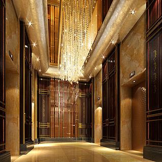 电梯口整体模型