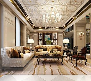 客厅家装3d模型