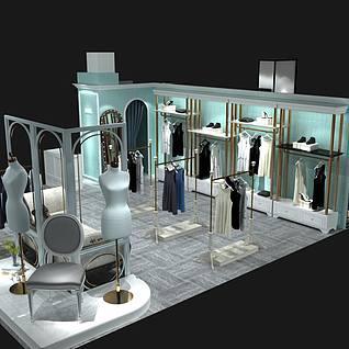商场女装整体模型