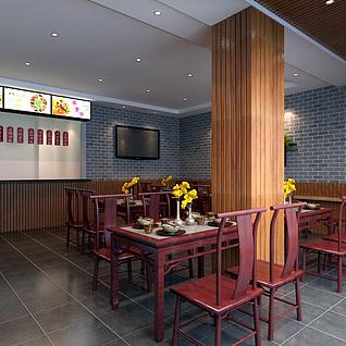 中式快餐店整体模型