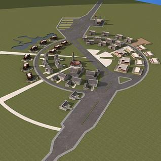 藏式村庄整体模型