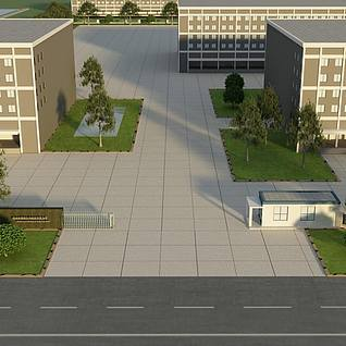 食品厂3d模型