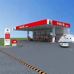 中国石化加油站整体模型