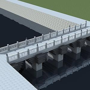 石橋整體模型