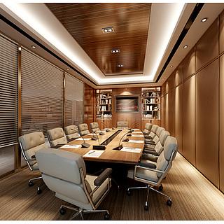 现代公司会议室整体模型
