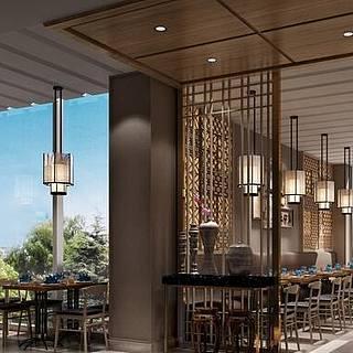 现代餐厅整体模型整体模型