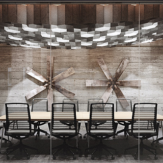 复古会议室整体模型