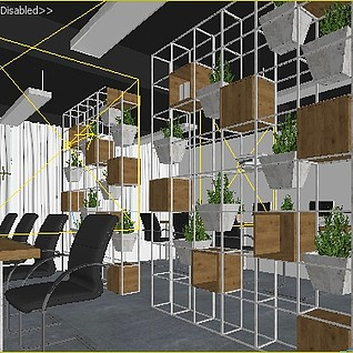 现代简约办公室3d模型