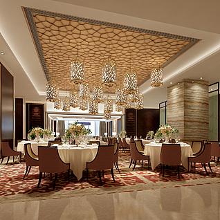中餐厅整体模型