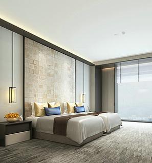 酒店客房工装模型