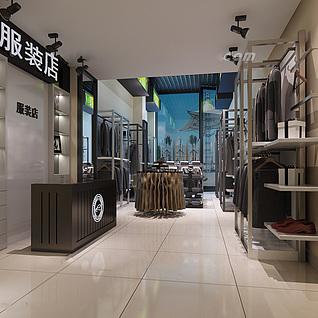 工装,室内,场景,展厅店铺整体模型