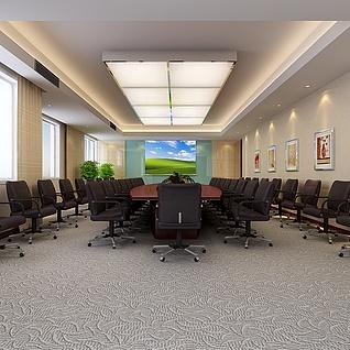 公司会议室整体模型