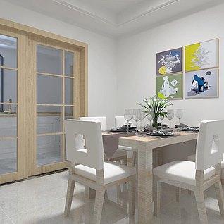 现代简约风格复式别墅3d模型