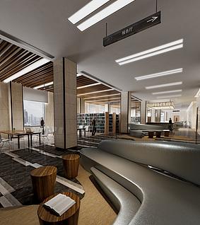 图书馆工装模型