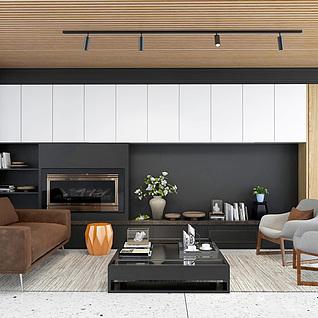 家具组合整体模型