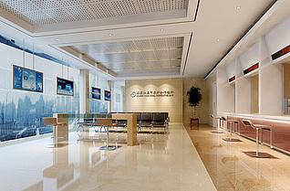 银行大厅3d模型