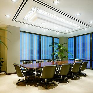 现代高端会议室整体模型