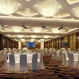 酒店宴会厅整体模型