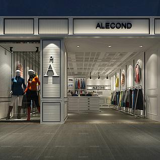 服装专卖店整体模型