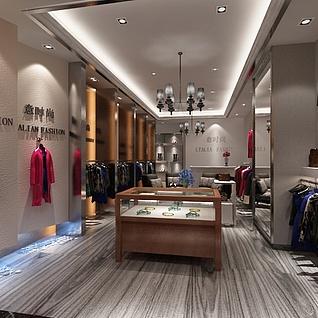 服装店展厅01整体模型