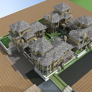 别墅整体模型