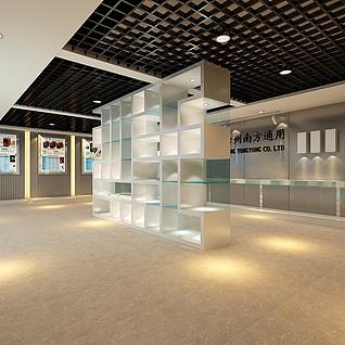 电子产品展厅整体模型