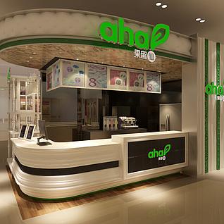 商场冷饮店整体模型