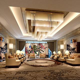 豪华贵宾室整体模型