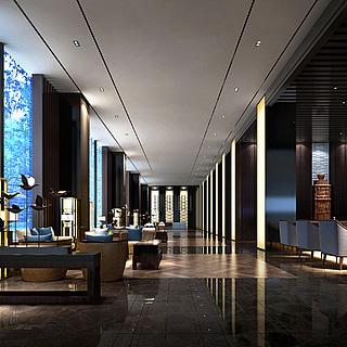 现代风格餐厅整体模型