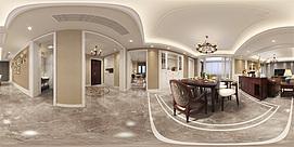 美式客餐厅360整体模型