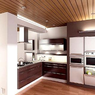 现代时尚厨房整体模型