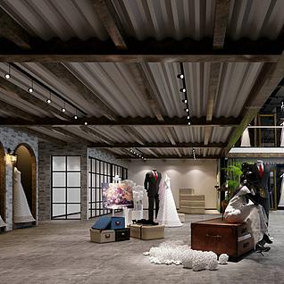 婚纱专卖店整体模型