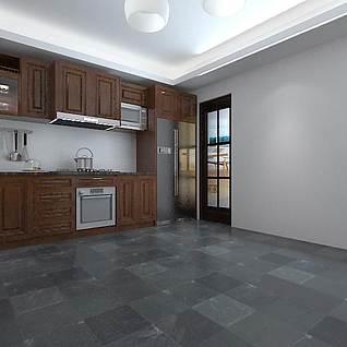 厨房橱柜整体模型