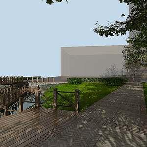 <font class='myIsRed'>园林</font>景观整体模型