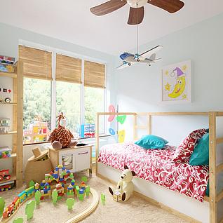 儿童房整体模型