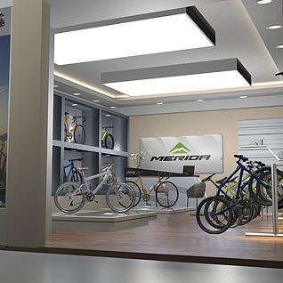美利达自行车专卖店整体模型