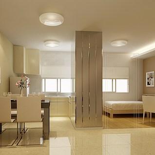 厨房餐厅3d模型