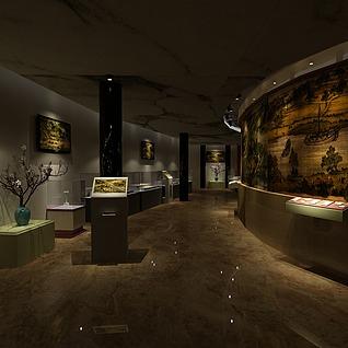 博物馆展厅设计整体模型