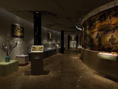 博物館<font class='myIsRed'>展廳</font>設計整體模型