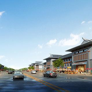 朝族酒店商业街整体模型