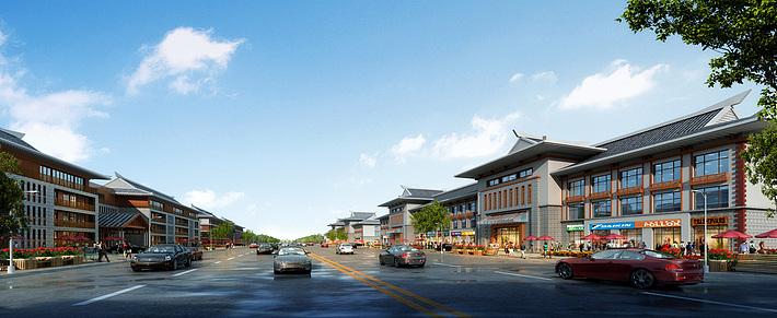 朝族酒店商业街3d模型