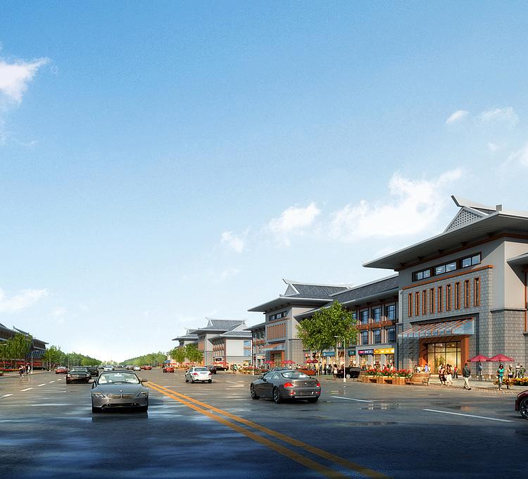 朝族酒店商业街模型